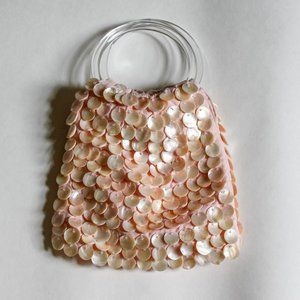 Handbags - Mother Of Pearl Disc Pink Sack Purse
